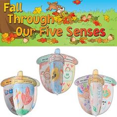 Ready-To-Decorate® Fall Through Our Five Senses 3-D Bulletin Board Kit
