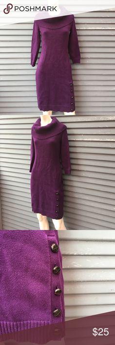 RALPH LAUREN- Size small purple sweater dress RALPH LAUREN- Size small purple sweater dress Lauren Ralph Lauren Dresses Long Sleeve