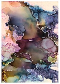 Alcohol ink painting by J Hembrey