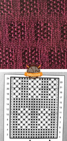 How To Knit Structural Pattern 11 – Knitting Concept Knitting Stiches, Sweater Knitting Patterns, Knitting Charts, Crochet Stitches, Baby Knitting, Knit Crochet, Yarn Crafts, Diy And Crafts, Purl Stitch