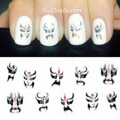 Tribal Nail Art Water Decals