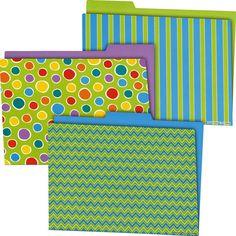 File in style!  Fresh Sorbet File Folders