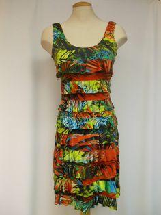 DR760-532 Tango Mango Tropical Ruffle Dress – Silhouette Fashion Boutique