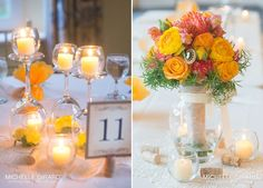 wine glass centerpieces   Wine Glass and Candle Centerpieces