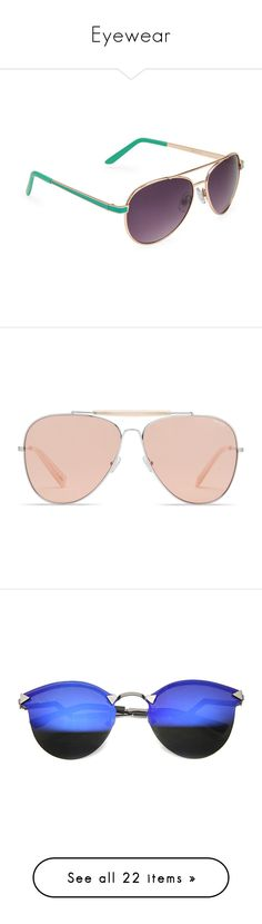 """Eyewear"" by rosky ❤ liked on Polyvore featuring accessories, eyewear, sunglasses, mint sprig, dark tint sunglasses, aéropostale, uv protection glasses, uv protection sunglasses, aviator style sunglasses and glasses"