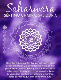 El séptimo chakra, Sahaswara,se conoce como el chakra del loto de los mil pétalos.     Éste es el chakra superior de los siete y está situado en