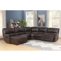 Shop for Porch & Den Glendale Brown Leather Modern Sectional Sofa Set with Left Facing Chaise. Get free delivery On EVERYTHING* Overstock - Your Online Furniture Shop! Get in rewards with Club O! Brown Sectional Sofa, Reclining Sectional With Chaise, Brown Sofa, Modern Sectional, Leather Sectional, Couches, Corner Sectional, Living Room Sets, Living Room Furniture