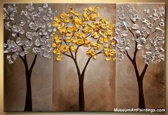 Landscape Paintings for Sale - Golden Tree