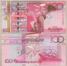 Seychelles UNC P-40 100 rupees Gold Foil 2001 ND