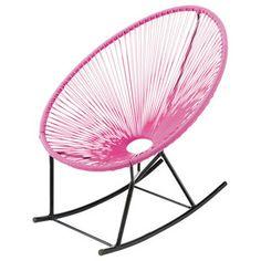 Roze tuin-schommelstoel - Copacabana
