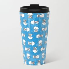 Pug Metal Travel Mug by lesfrotteurs. Worldwide shipping available at Society6.com. Just one of millions of high quality products available.