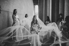 When your veil is so big that you and your bridesmaids can play your favorite parachute game from elementary school! Parachute Games, Nashville Wedding, Elementary Schools, Veil, Bridesmaids, Play, Wedding Dresses, Painting, Bride Dresses