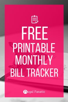 Free Printable Bill Tracker: Manage Your Monthly Expenses | Free ...