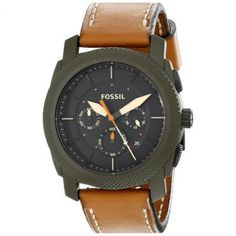 Relógio Masculino Fossil Analógico, Pulseira de Couro, Caixa de 4,9 cm, Resistente a Água 50 Metros - FS50410VN