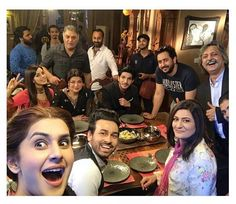 Kubra Khan with Drama Serial #Muqabil Cast! ♥
