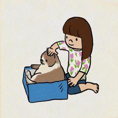 9歳ですがネコ年齢では結構なおばあちゃんだということで 長生きしてくださいね  #敬老の日 #cat  #イラスト