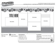 Image result for double page scrapbook sketches