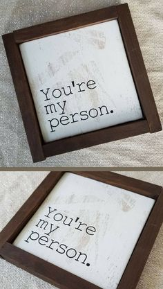 So Simple. You're My Person Framed Sign - Farmhouse Sign, Valentine Gift, Wedding Decor, Bedroom Decor, Gift for Him, Gift for Her, Rustic Farmhouse Wall Art, Grey's Anatomy Decor, Meredith Grey, Grey's Anatomy Quote, Gift for Best Friend, Newlywed Home Decor, Newlywed Bedroom Decor, Farmhouse Fixer Upper Decor, Family Gallery Wall #ad