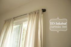 DIY Industrial Curtain Rod