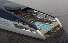 WEB LUXO - NÁUTICA: Um iate de luxo com 150 metros de puro exotismo