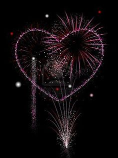 Illustration of Valentine's fireworks display vector art, clipart and stock vectors. I Love Heart, With All My Heart, Happy Heart, Heart Pics, Fireworks Photography, Fire Works, Fire Heart, Nouvel An, Heart Art