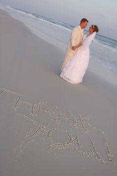 Beach wedding Thank you's