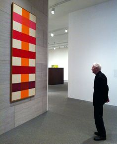 """RIP Paul Reed. Mr. Reed in 2012 with his """"Coherence"""" (1966) at the National Gallery of Art."""