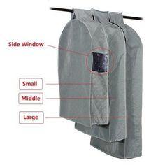 1Pcs Coat Clothes Jacket Suit Bag Dress Garment Storage Travel Dustproof Cover Size S #Affiliate