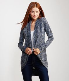 Cocoon Open-Front Cardigan