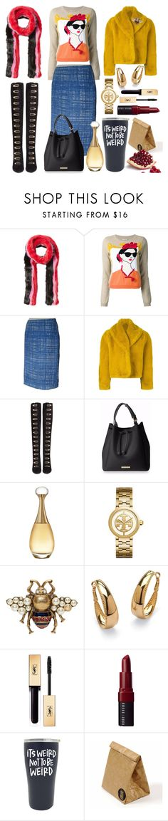 """""""Out of the box...."""" by pulseofthematter ❤ liked on Polyvore featuring Charlotte Simone, Alice + Olivia, Prada, Jean-Paul Gaultier, Stella Luna, Christian Dior, Tory Burch, Gucci, Palm Beach Jewelry and Bobbi Brown Cosmetics"""