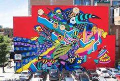 Comme chaque année en février, le festivalPOW! WOW! Hawaii réuni des dizaines de street artists venus du monde entier pour peindredesmurs dans les diff