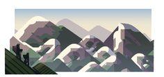 Día de la Montaña en Japón. Doodleando, Los Logos de Google