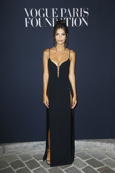 Emily+Ratajkowski+In+Mugler+-+At+the+Vogue+Foundation+Dinner+in+Paris