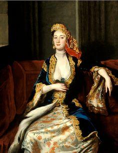 Mrs. Thomas Pelham (Anneta, daughter of Thomas Bridges, wife of Thomas Pelham) by Joseph Highmore, 1720s.