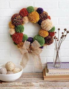 Cozy fall wreath