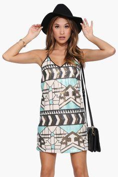 Aztec Sequin Dress - Necessary clothing