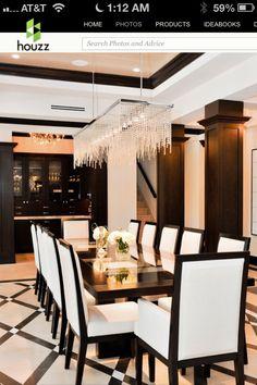Black & gold dinner room
