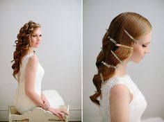 Hollywood Waves DIY Hair Tutorial - Photography: K. Mari Photography - Hair: Heather Chapman Hair -  Styling: Sealed with a Kiss - via greylikeweddings