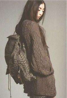sweater backpack, bag