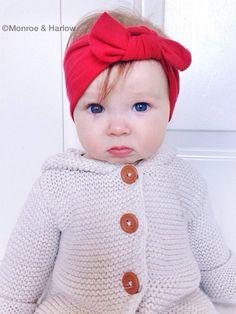 red headband, red bow headband