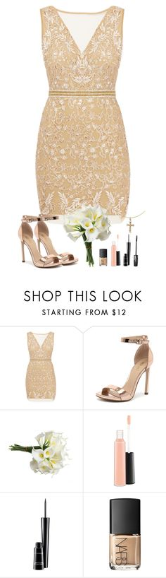 """""""Natalie Mercy King"""" by annefs1 ❤ liked on Polyvore featuring Nicole Miller, Verali, MAC Cosmetics, NARS Cosmetics and Cross"""