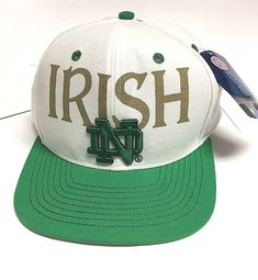 8085f1bcd7d8b Notre Dame Irish Adidas Baseball Embroidered Adjustable Hat Cap Navy Blue -  New! | eBay