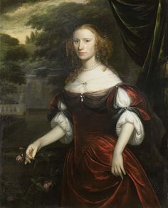 Portrait of a woman, by Herman Verelst, 1667 (Rijksmuseum, the Netherlands).