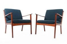 Pair of Danish Mid Century of Model 112 Lounge by MidCenturyMobler, $2350.00 This idea for master?