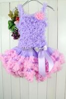 2012 Baby Petti Tutu Dress For Girl Purple Lace Party Dress With Bowknot Age Baby:1-6Y Chiffon+Cotton Sample Support 5 sets/lot