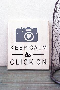 Keep Calm & Click On Sign