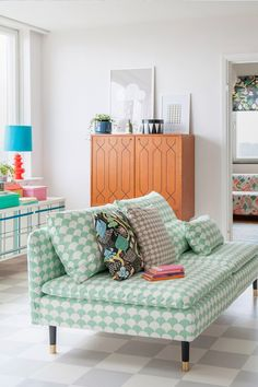 Add some color or pattern to any room to spice things up a bit!!
