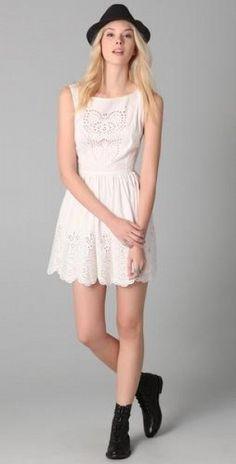 Cotton eyelet dress by Opening Ceremony #spring #fashion #feminine #trends