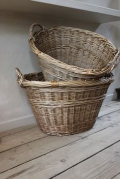 laundry baskets- I would paint green on center & rim, line with gingham check fabric.