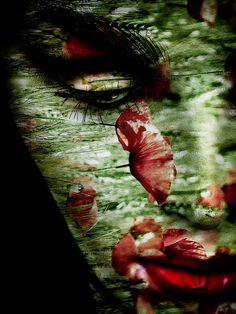 'Red lips and poppy' von Gabi Hampe bei artflakes.com als Poster oder Kunstdruck $20.79